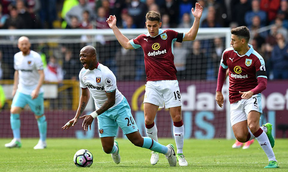 West Ham travel to the North-West to face Burnley in the Claret & BlueDerby
