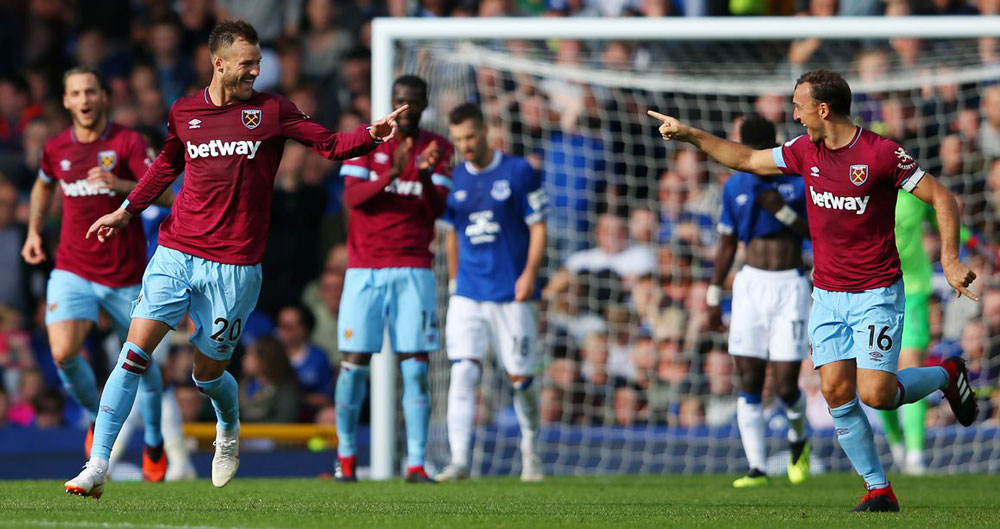 "West Ham entertain Everton in the ""Premier League most games lost derby"""