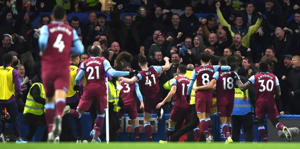 What West Ham would give for a repeat of the score at Stamford Bridge earlier this season!
